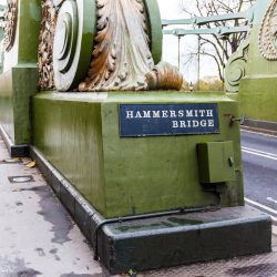Hammersmith Bridge, certainly the finest bridge across the Thames